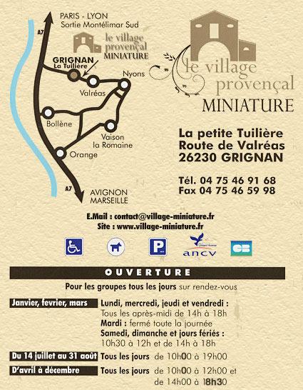 Plan du village miniature Provençal
